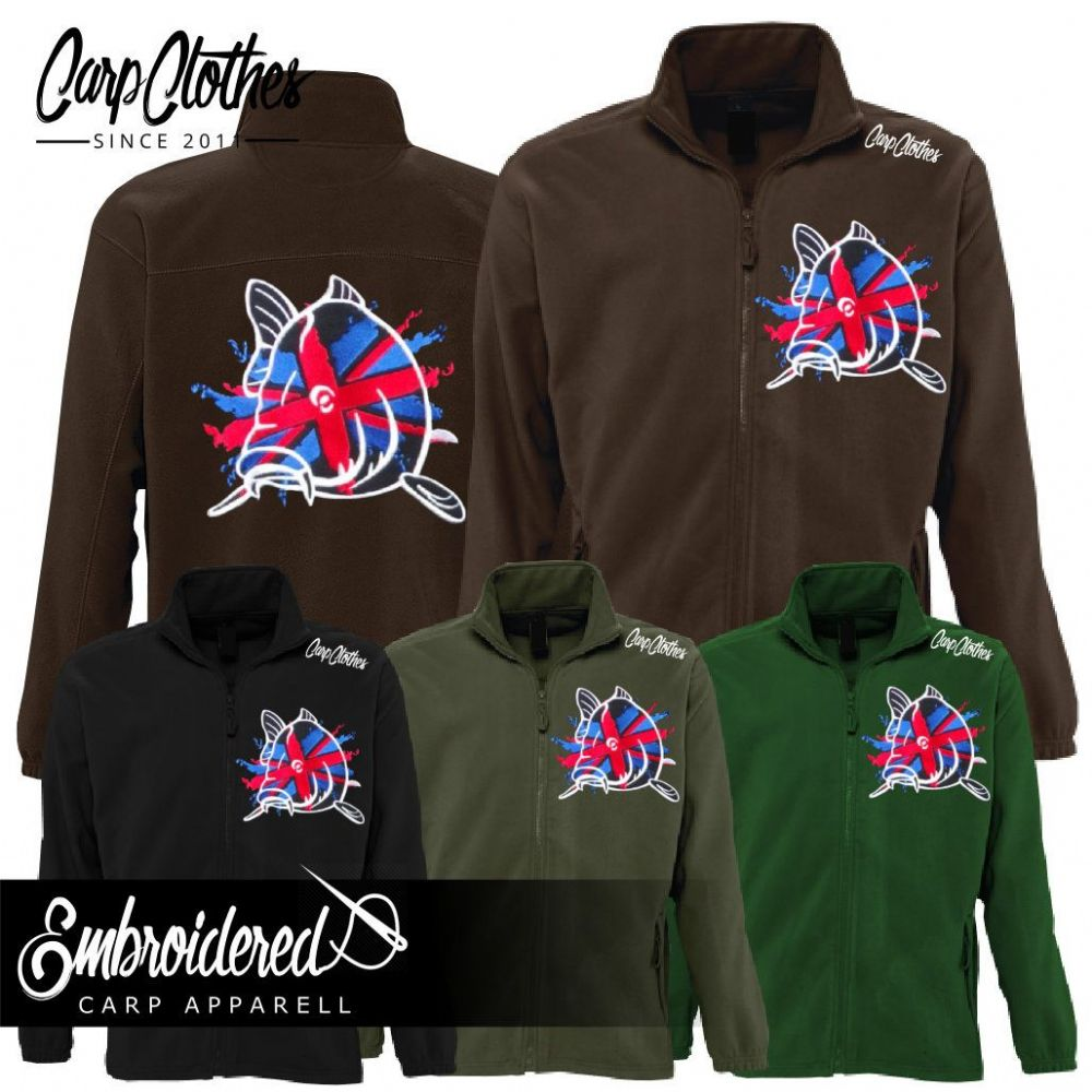 011 EMBROIDERED FLEECE JACKET